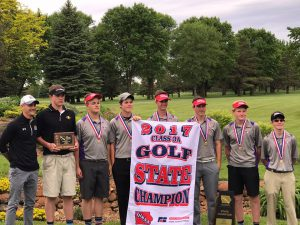 Central Golf with banner