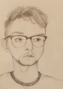 """Sadie Fahrenkrug, """"Ryan"""", Drawing and Illustration, Honorable Mention"""