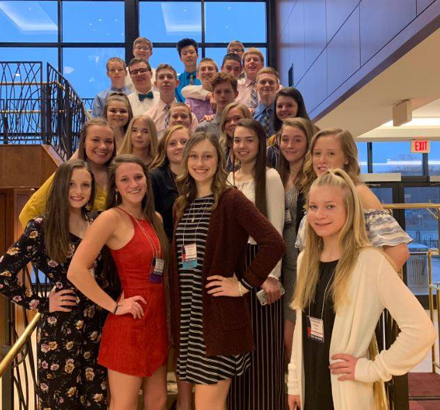 FBLA Students photographed at the State Leadership Conference